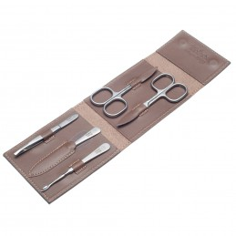 Havanna M TopInox Stainless Steel Manicure Men's Set in Leather Case Solingen - 1